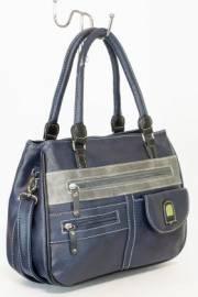 Дамска чанта в тъмно синьо и сиво 9154221