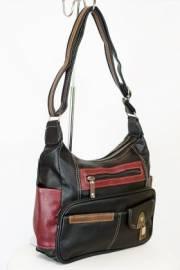 Дамска чанта в черно,бордо и кафяво 9154224