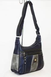 Дамска чанта в тъмно синъо и сиво 9154226
