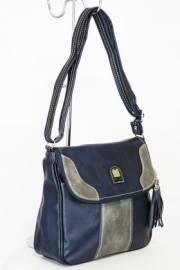 Дамска чанта в тъмно синъо и сиво 9154231