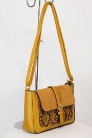 Дамска чанта в светло кафяв цвят 9154254